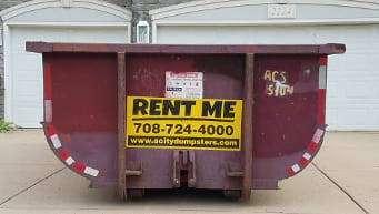 Residential dumpster rental for home project